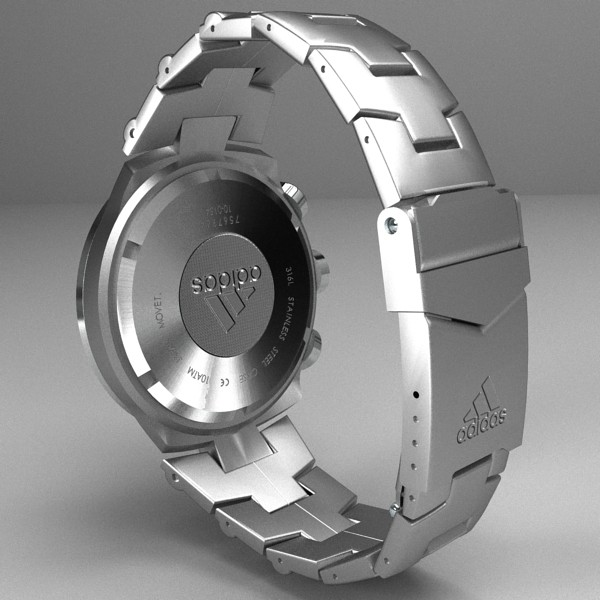 chronograph watch 3d model 3ds fbx skp obj 115586