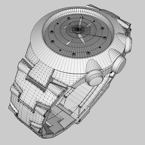 chronograph watch 3d model 3ds fbx skp obj 115592