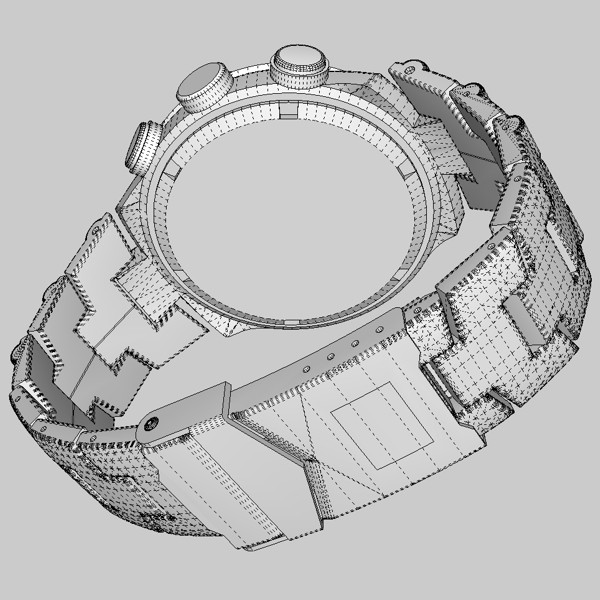 chronograph watch 3d model 3ds fbx skp obj 115593