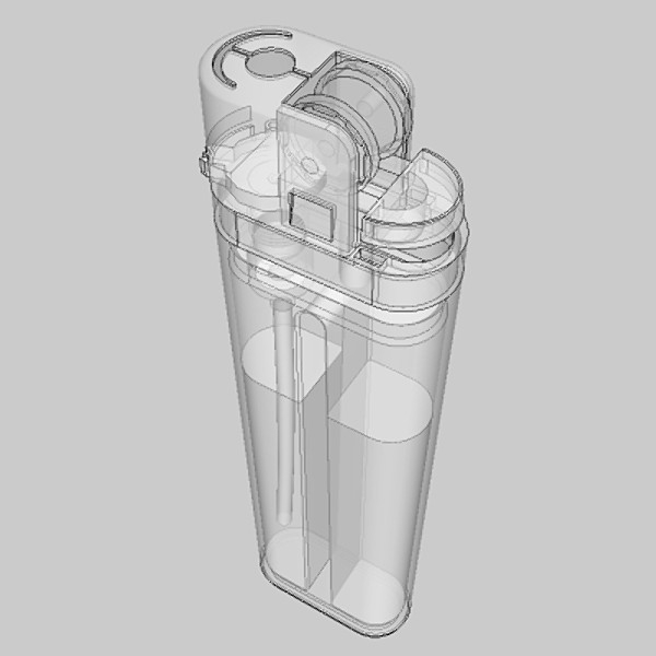 cigarette lighter 3d model 3ds fbx skp obj 115166
