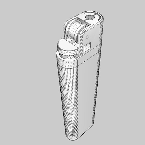 cigarette lighter 3d model 3ds fbx skp obj 115167