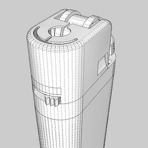 cigarette lighter 3d model 3ds fbx skp obj 115168