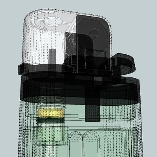 cigarette lighter 3d model 3ds fbx skp obj 115170