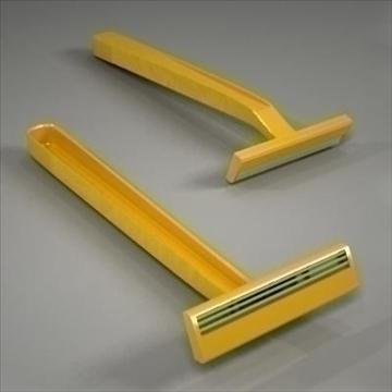 disposable plastic razor 3d model 3ds max fbx obj 107609