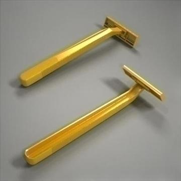 disposable plastic razor 3d model 3ds max fbx obj 107610