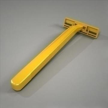 disposable plastic razor 3d model 3ds max fbx obj 107612