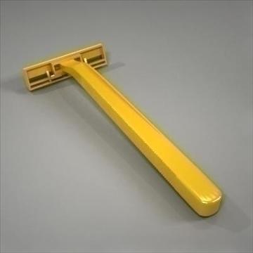 disposable plastic razor 3d model 3ds max fbx obj 107613