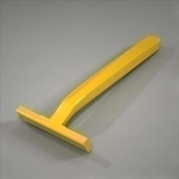 disposable plastic razor 3d model 3ds max fbx obj 107614