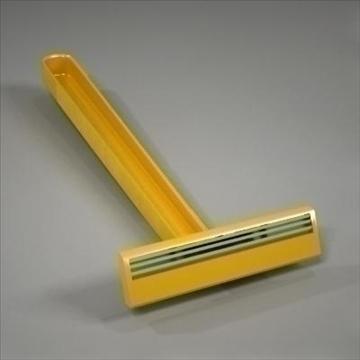 disposable plastic razor 3d model 3ds max fbx obj 107616