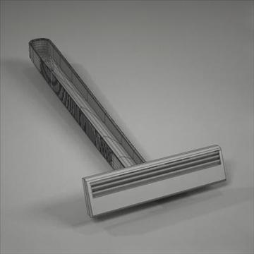 disposable plastic razor 3d model 3ds max fbx obj 107617