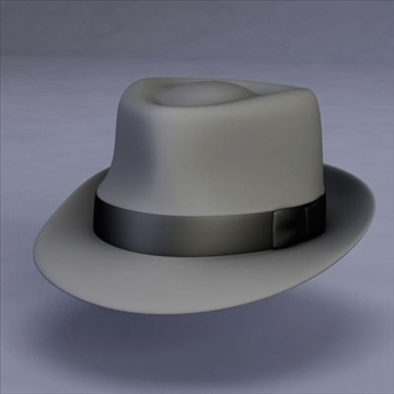 fedora hat 3d model 3ds dxf fbx c4d x obj 104809