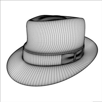 fedora hat 3d model 3ds dxf fbx c4d x obj 104814