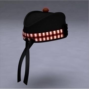 glengarry bonnet 3d model 3ds dxf fbx c4d x obj 104709