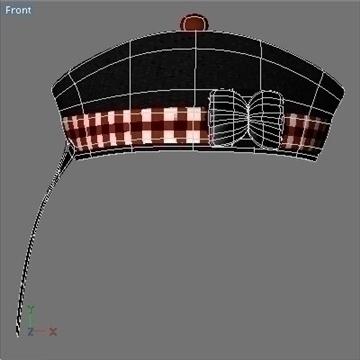glengarry bonnet 3d model 3ds dxf fbx c4d x obj 104712