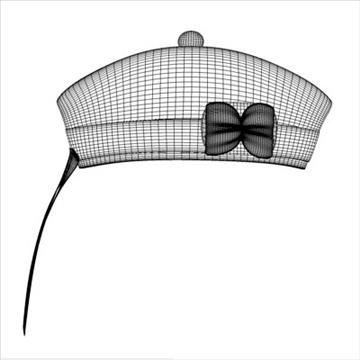 glengarry bonnet 3d model 3ds dxf fbx c4d x obj 104714