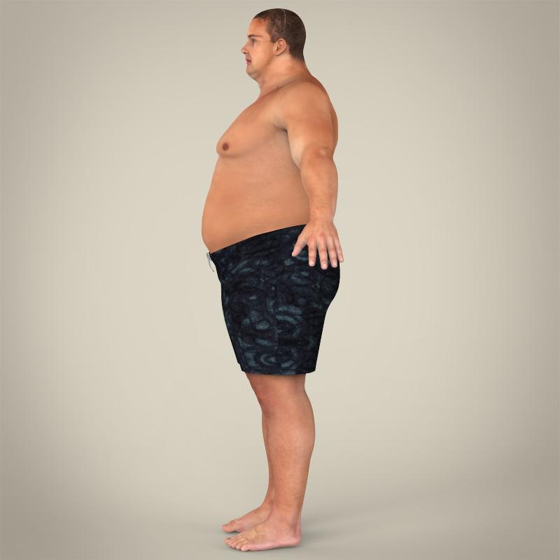 Realistic Fat Man 3D Model  Buy Realistic Fat Man 3D -8348
