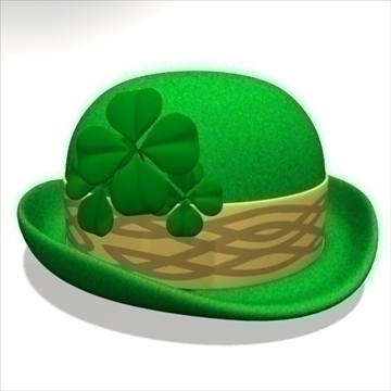 st. patricks day hat 2. zip 3d model 3ds dxf fbx c4d x obj 94029