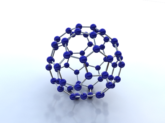 moleciwl buckminsterfullerene 3d model max 123257