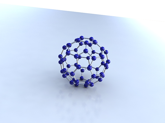 buckminsterfullerene molekülü 3d model max 123261
