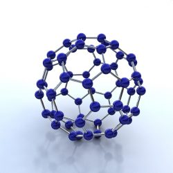 Buckminsterfullerene molecule ( 134.18KB jpg by S.E )