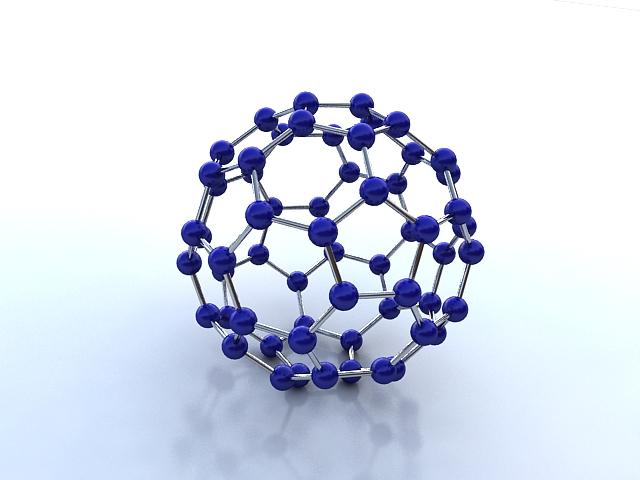 Buckminsterfullerene molecule ( 134.18KB jpg by S.E )