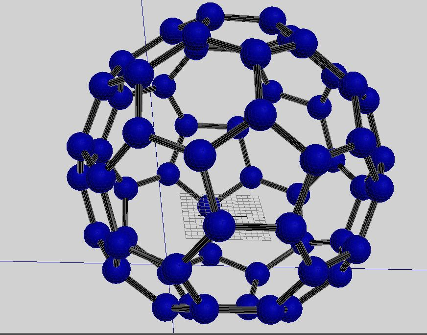 Buckminsterfullerene molecule ( 103.51KB jpg by S.E )