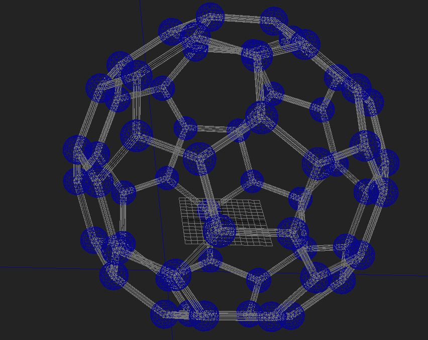 Buckminsterfullerene molecule ( 101.41KB jpg by S.E )