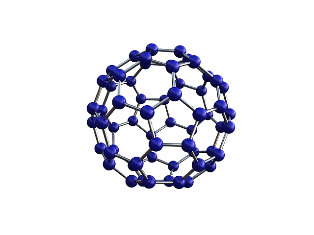 Buckminsterfullerene molecule ( 72.61KB jpg by S.E )