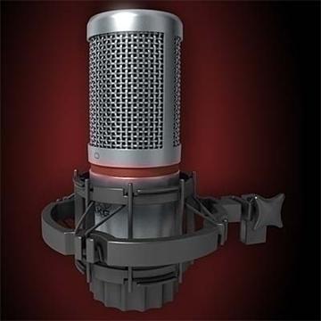 akg c 2000 b microphone 3d model 3ds max fbx obj 80767