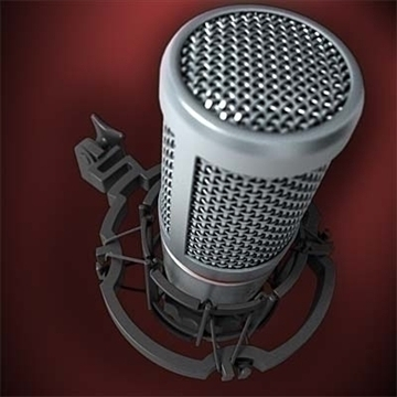 akg c 2000 b microphone 3d model 3ds max fbx obj 80770
