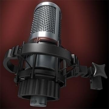 akg c 2000 b microphone 3d model 3ds max fbx obj 80771