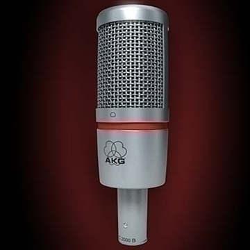 akg c 2000 b microphone 3d model 3ds max fbx obj 80772