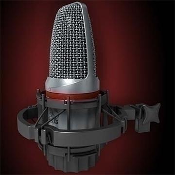 akg c 3000 b mikrofon 3d model 3ds max fbx obj 81243
