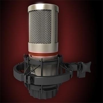 akg c 4000 b mikrofon 3d model 3ds max fbx obj 80775
