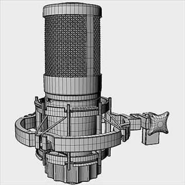 akg c 4000 b mikrofon 3d model 3ds max fbx obj 80781