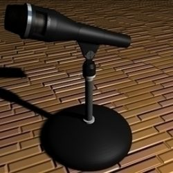 Microphone ( 87.16KB jpg by Idream3D )