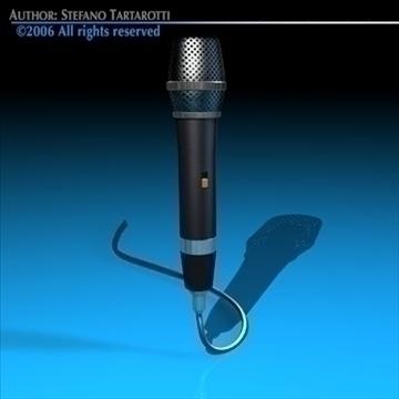 microphone 3d model 3ds dxf c4d obj 82598