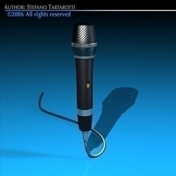 microphone 3d model 3ds dxf c4d obj 82600