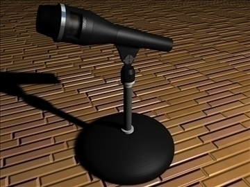 stand microphone 3d model c4d texture 111302
