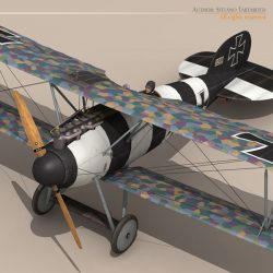 Albatros D Va jasta 26 3d model augmented reality low poly 3ds dxf c4d obj