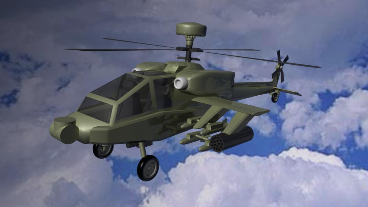 Apache helikopter 3d model ma mb drugi 116108