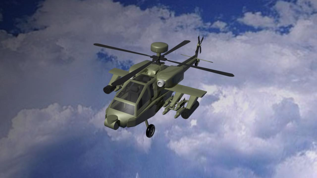 apache helicopter 3d model ma mb other 116110