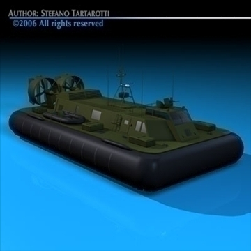vojska hovercraft 3d model 3ds dxf c4d obj 82959