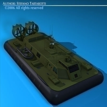 army hovercraft 3d model 3ds dxf c4d obj 82960