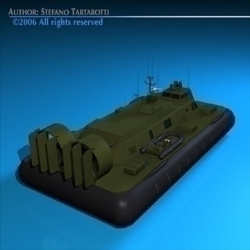 army hovercraft 3d model 3ds dxf c4d obj 82962