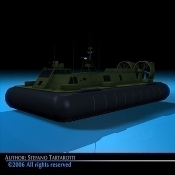 army hovercraft 3d model 3ds dxf c4d obj 82963
