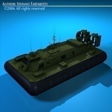 army hovercraft 3d model 3ds dxf c4d obj 82964