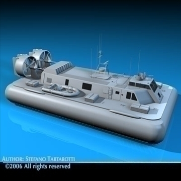 army hovercraft 3d model 3ds dxf c4d obj 82965
