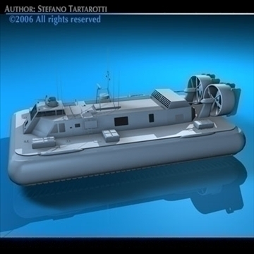 army hovercraft 3d model 3ds dxf c4d obj 82966