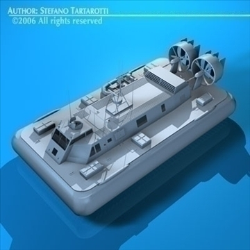 army hovercraft 3d model 3ds dxf c4d obj 82967